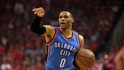 First team: G Russell Westbrook, Thunder