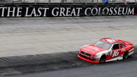 Larson starts on pole with Bristol qualifying rained out