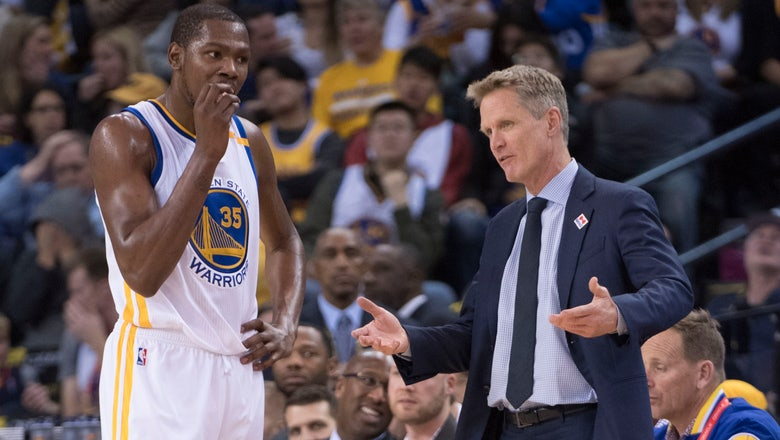 Warriors rule out Kevin Durant and Steve Kerr for Game 3 vs. Blazers