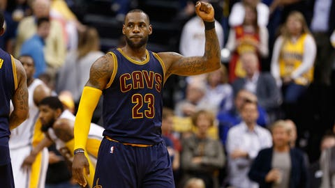 James leads Cavs to record second-half comeback win over Pacers