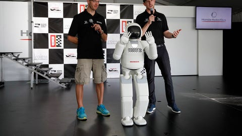 ASIMO is the Grand Marshal at this weekend's IndyCar race. (Photo: Michael L. Levitt/LAT Images)