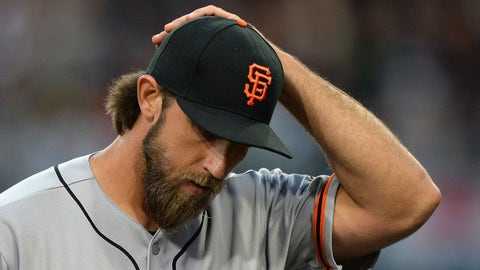 Madison Bumgarner's rented bike slipped near end of ride