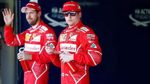 Kimi Raikkonen will start second behind his Ferrari teammate Sebastian Vettel in Sunday's Russian GP. (Photo: Glenn Dunbar/LAT Images)