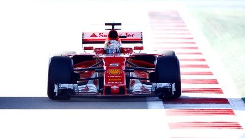 Sebastian Vettel qualified on pole for Sunday's Russian GP. (Photo: LAT Images)