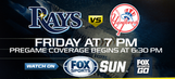 Preview: After day off, Rays return home to host Yankees
