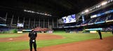 Marlins vs. Braves game delayed after lights go out
