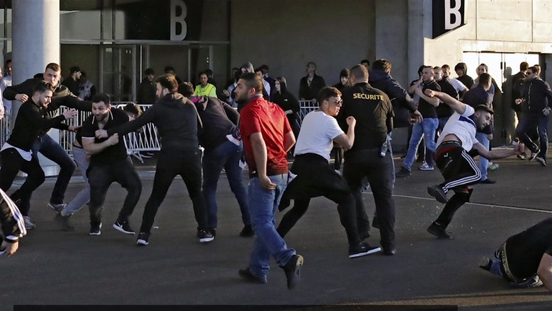 Violence broke out when Lyon took on Besiktas