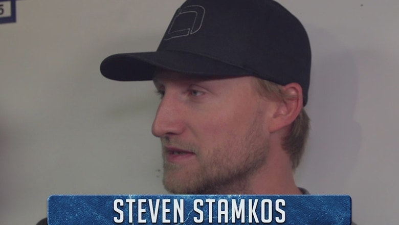 Steven Stamkos says the Lightning need to work on their defensive game this offseason