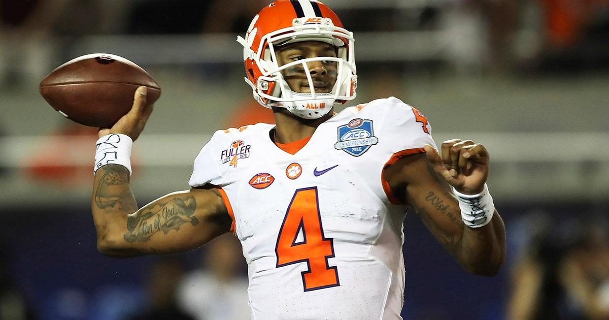 Texans trade up to take quarterback Deshaun Watson with No. 12 pick in NFL Draft