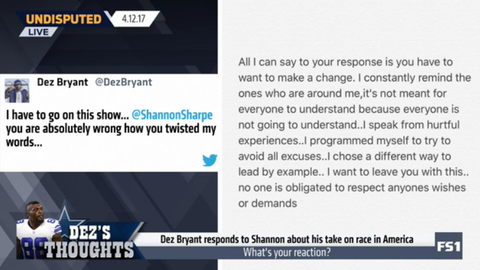 Dez Bryant: Shannon Sharpe is 'absolutely wrong'