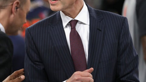 NEW ORLEANS LA- FEBRUARY 19 NBA Commissioner Adam Silver looks on after the 2017 NBA All Star Game at Smoothie King Center
