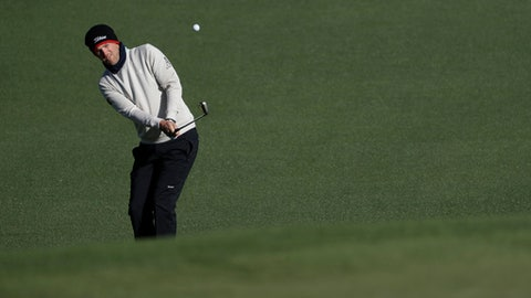 Bernd Wiesberger of Austria, hits to the second green during the second round of the Masters golf tournament Friday, April 7, 2017, in Augusta, Ga. (AP Photo/David Goldman)