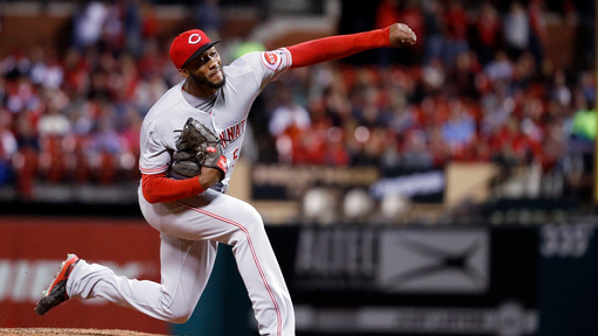 Amir Garrett was pounded by the Indians on Tuesday night.