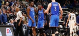 Oladipo lifts Russ-less Thunder over Wolves, 100-98
