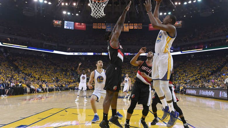 Portland's Nurkic out Game 2, Warriors' Durant questionable