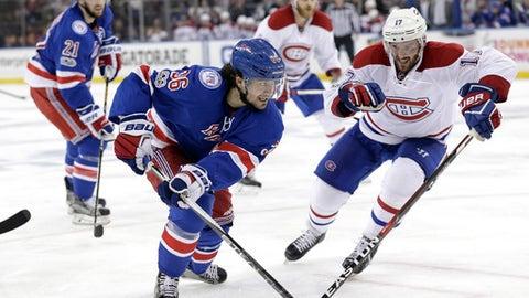 Rangers lose to Canadiens on Radulov's OT goal