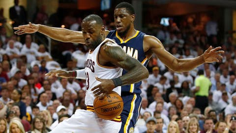'James with the step' - LeBron slams down big dunk against Indiana Pacers