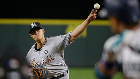 Miami has another near-no-hitter, beats Seattle 5-0