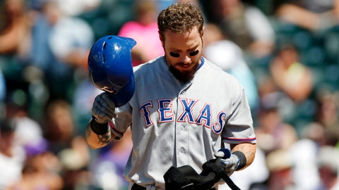 Rangers release Josh Hamilton after another knee injury