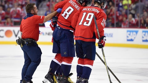 National Hockey League roundup: Johansson scores in OT to give Caps series win