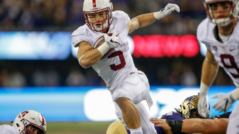 27. Chiefs: Christian McCaffrey - RB - Stanford