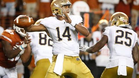 25. Texans: DeShone Kizer - QB - Notre Dame