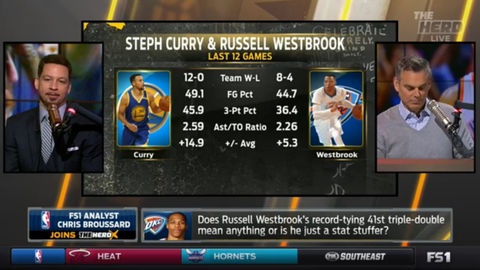 We're celebrating the triple-double while overlooking other flaws in Westbrook's performances