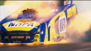 Ron Capps Wins Funny Car Final at Houston Despite Fire | 2017 NHRA DRAG RACING