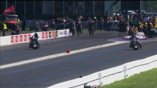 Jay Turner Wins Top Fuel Harley Final at Houston | 2017 NHRA DRAG RACING