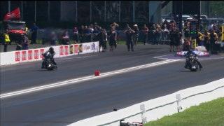Jay Turner Wins Top Fuel Harley Final at Houston | 2017 NHRA DRAG RACING