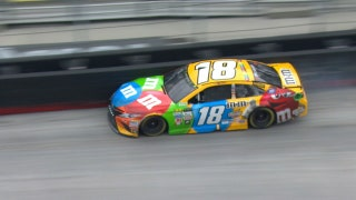 Kyle Busch Blows Right-Front Tire | 2017 BRISTOL | FOX NASCAR