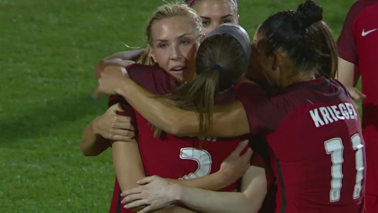Allie Long gets her second goal of the night | Women's International Friendly Highlights