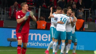 Guido Burgstaller gives Schalke the lead over Bayer 04 | 2016-17 Bundesliga Highlights