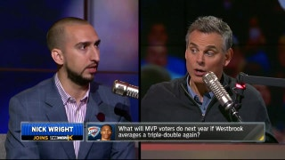 Nick Wright talks Westbrook's triple-doubles, LeBron James' heir and the NFL Draft | THE HERD