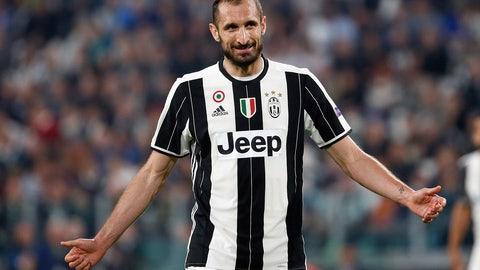 Central defender - Giorgio Chiellini