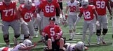 Ohio State celebrates special friend of team at end of spring game