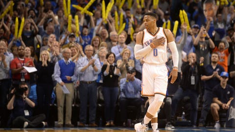 When Russell Westbrook doesn't get a triple-double, the Thunder lose
