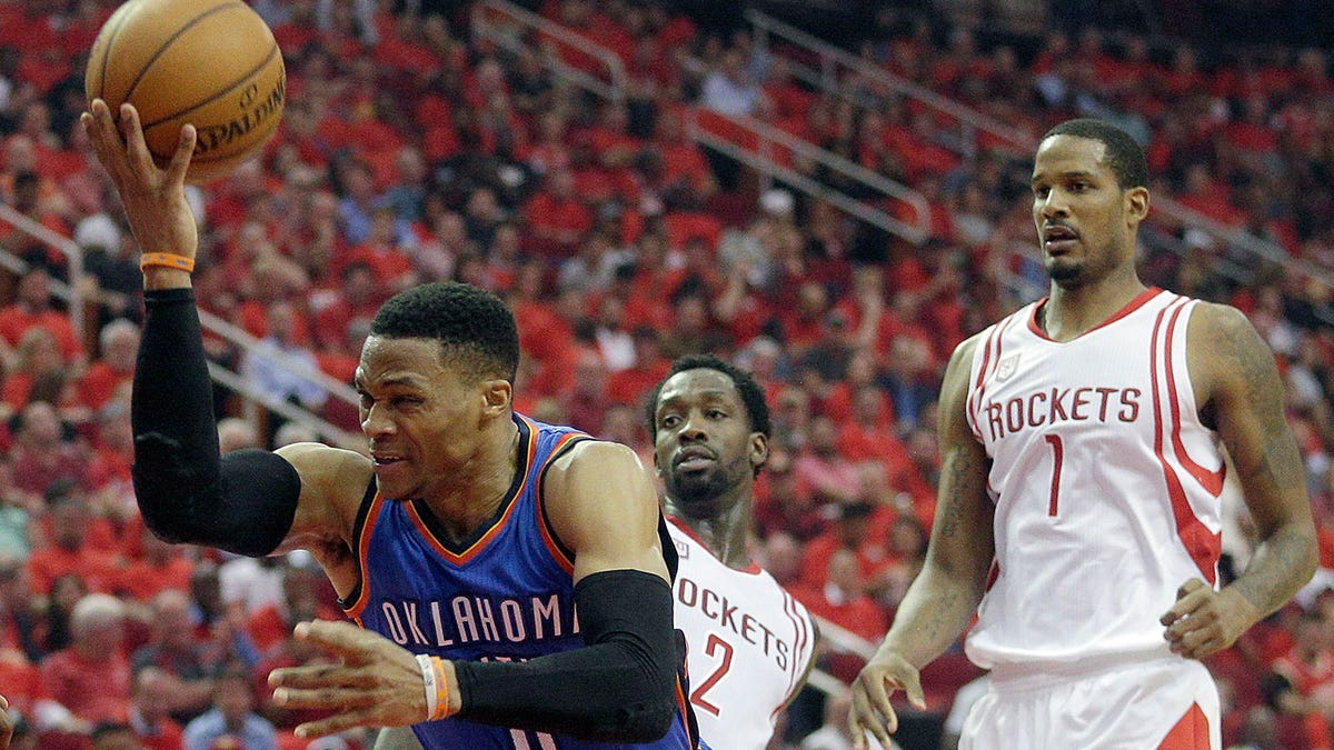 Russell Westbrook's 47 not enough as Rockets eliminate Thunder