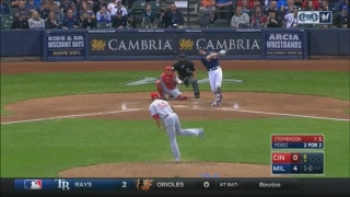 WATCH: Brewers' Hernan Perez has a big night at the plate
