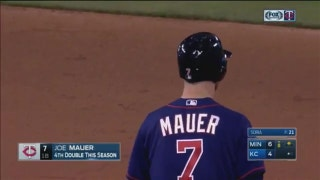 WATCH: Mauer's go-ahead two-run double