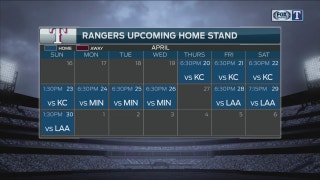 Rangers Live: Upcoming home stand