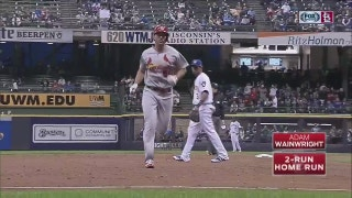 WATCH: Wainwright homers in Cards' win over Brewers