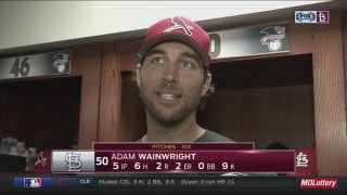 Adam Wainwright on his two-run homer: 'I crushed it'