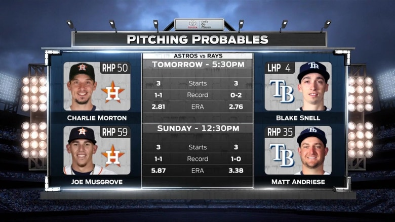 Blake Snell tries to help Rays rebound vs. Astros