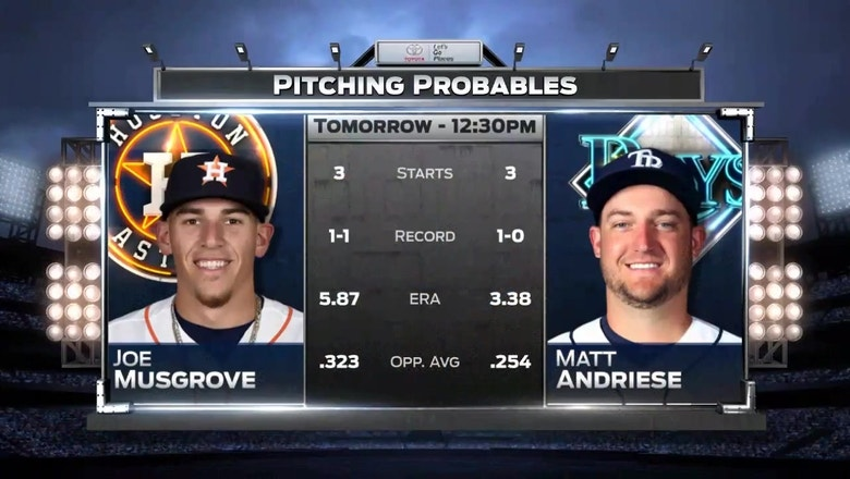 Rays look for another series victory in finale vs. Astros