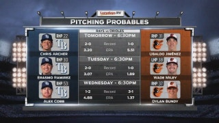 Chris Archer takes mound as Rays begin road trip in Baltimore