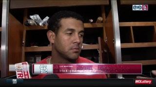 Martinez on his first major-league homer, curtain call