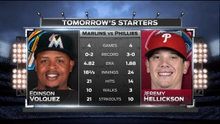 Edinson Volquez starts for Marlins in finale of shortened series in Philly