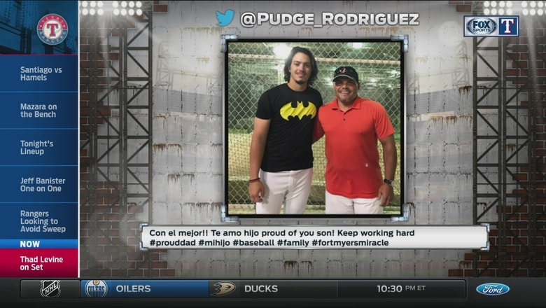 Rangers Live: Pudge asks about his son