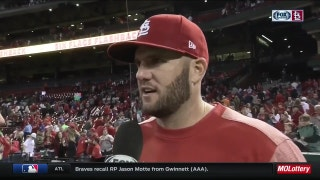 Matt Adams enjoys three-hit game -- and none was pulled to left